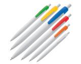 Kunststoffkugelschreiber mit farbigem Clip